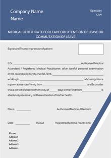 Custom medical certificates letter templates format printvenue design by printvenue yadclub Images