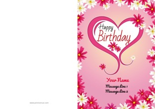 Create customized birthday greeting cards online print at design by printvenue bookmarktalkfo Gallery